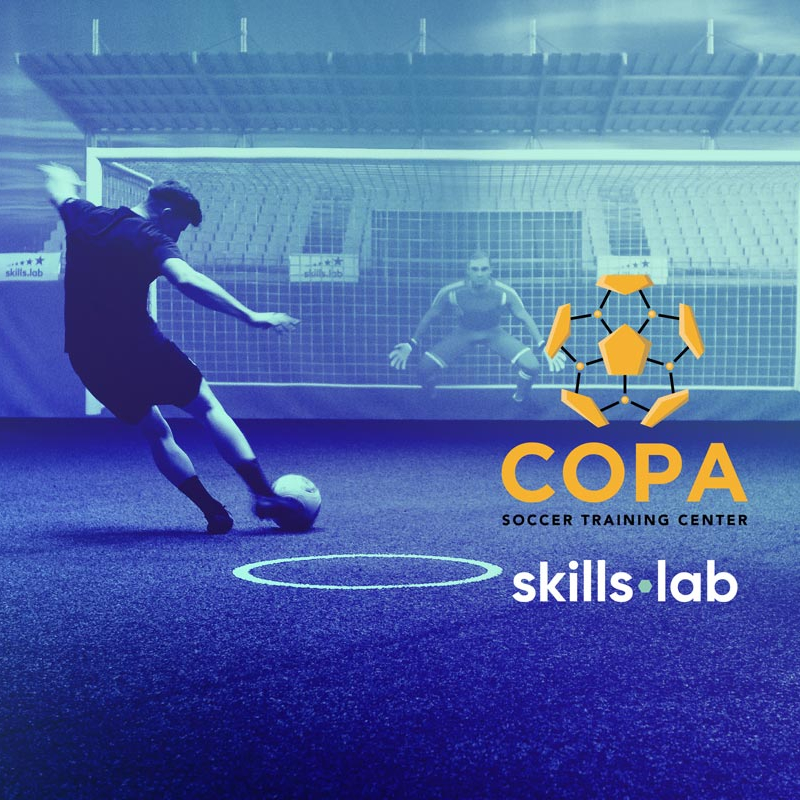 Image of skills.lab Arena with logo of COPA Soccer Training Center