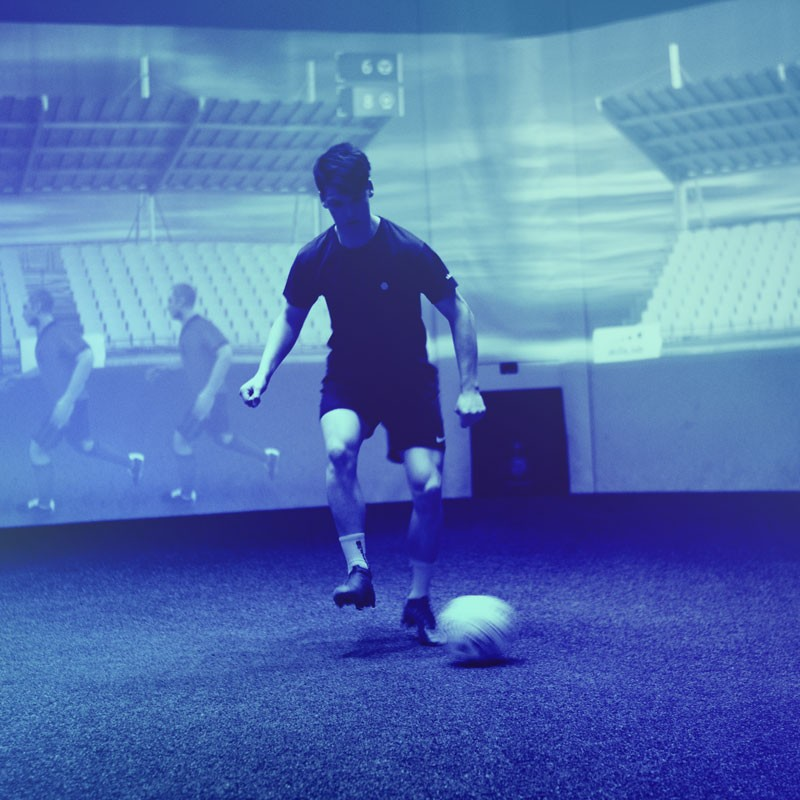 Home Corporate CN - Image of a player during an exercise in the skills.lab Arena in Wundschuh