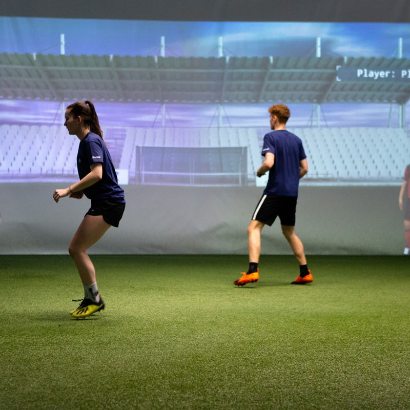 Image showing two players at the skills.lab Arena in Wundschuh