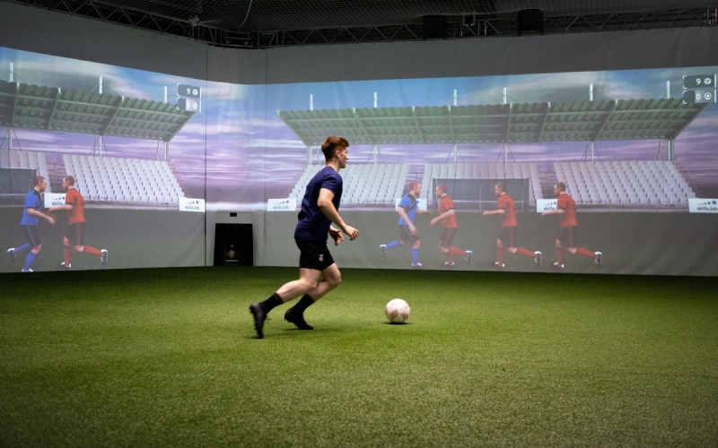 Benefits - Image shows a player during an individual training in the skills.lab Arena
