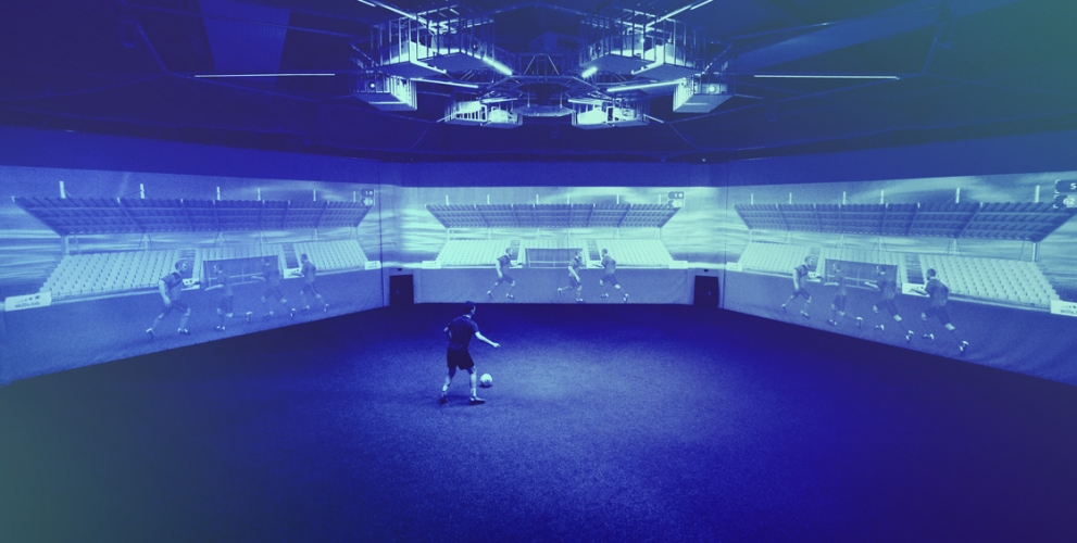 Home Corporate (ZH) - Image of an adult player during an overview exercise in the skills.lab Arena