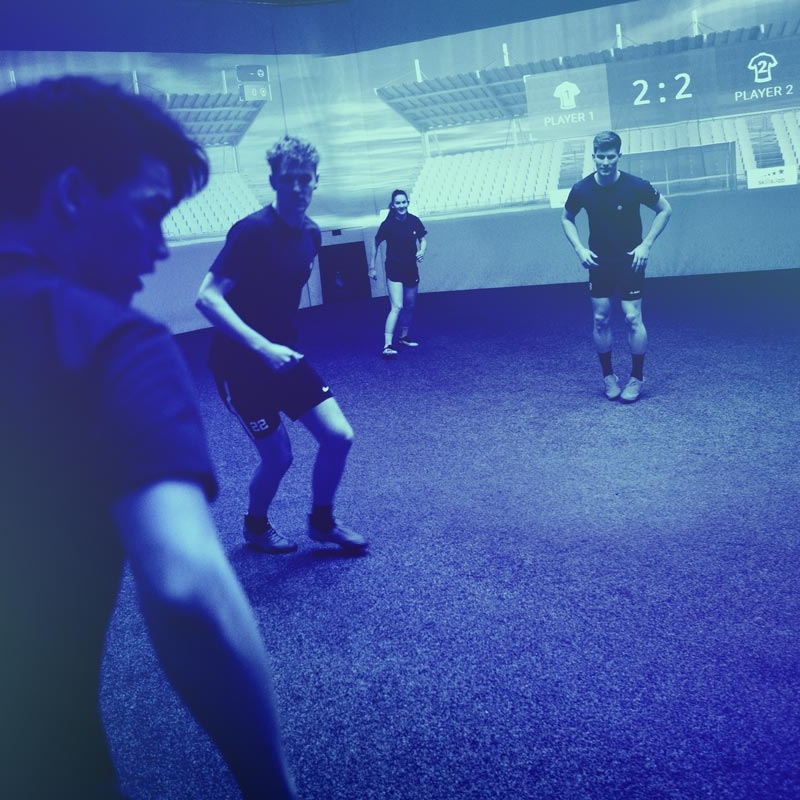 Image showing four adult players at skills.lab Arena during a bachelor party